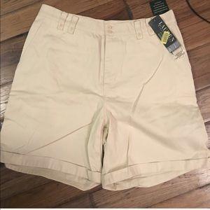 Ralph Lauren 14W off white classic chino shorts